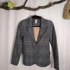 FRANCESCA'S tweed elbow patch blazer